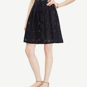 Ann Taylor blue Eyelet tennis raquet skirt 6p 6